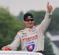 Andy Lally thumbs up 2014 Gardner Denver 200 at Road America.jpg