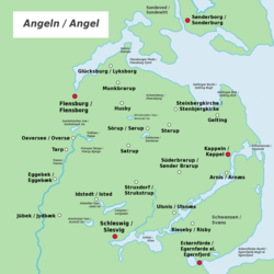 kort over flensborg fjord