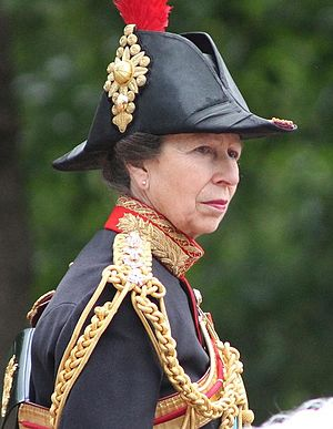 British princess - HRH The Princess Royal, daughter of the Queen.