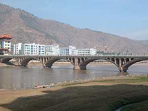 Miyi County - Image: Anning Riv. Bridge