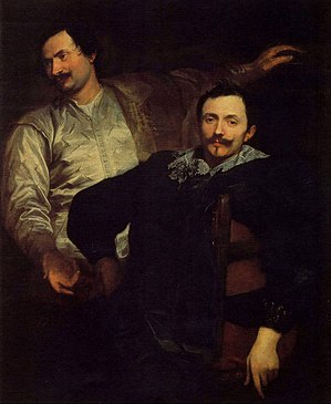 Lucas de Wael - Portrait of the brothers Lucas and Cornelius de Wael by Anthony van Dyck.