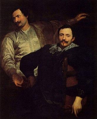 Lucas de Wael - Portrait of the brothers Lucas and Cornelius de Wael by Anthony van Dyck.