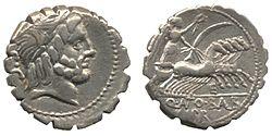 MÖ 82-83 yıllarından bir denarius
