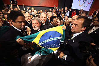 Rio de Janeiro bid for the 2016 Summer Olympics - Celebration after the city's victory during the 121st IOC Session at Bella Center.