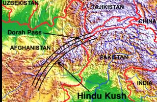 Hindu Kush mountain range near Afghanistan and Pakistan border