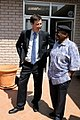 Archbishop Desmond Tutu chats to AusAID Minister Counsellor Pretoria, Jamie Isbister (10666698554).jpg