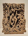 Architectural Relief with Kali Dancing on Reclining Shiva, 10th-11th century AD, Madhya Pradesh, India, possibly Khajuraho, sandstone - Sackler Museum - DSC02434.JPG