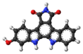 Arcyriaflavin B molecule ball.png