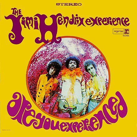 The cover of the US edition by graphic designer Karl Ferris Are You Experienced - US cover-edit.jpg