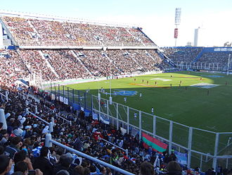 Jaguares (Super Rugby) - The José Amalfitani Stadium during a rugby match between Argentina 'A' and England 'A' in 2013.