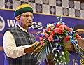 "Arjun Ram Meghwal addressing the gathering at the 50th Foundation Day Celebration of WAPCOS- ""Transcending Boundaries- Touching Lives"", in New Delhi.JPG"