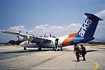 Arkia Dash 7 at Rosh Pina Ben Ya'akov Airport.jpg