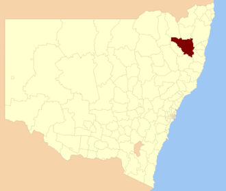 Armidale Regional Council - Location in New South Wales