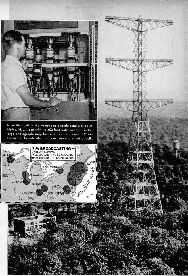 Armstrong FM radio station W2XMN Alpine NJ 1940