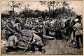 Army medical officers in the field constructing stretchers w Wellcome V0015758.jpg
