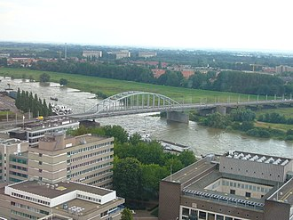 John Frost Bridge - Aerial view from the cathedral tower