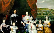 Portrait of the Capell family including Mary Capell holding a basket of flowers