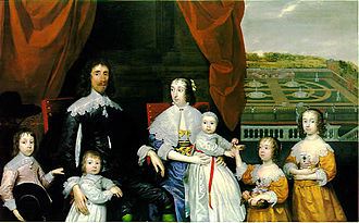 Cornelius Johnson (artist) - Baron Capel and his Family, 1641. Capel was a leading Royalist, executed in 1649.