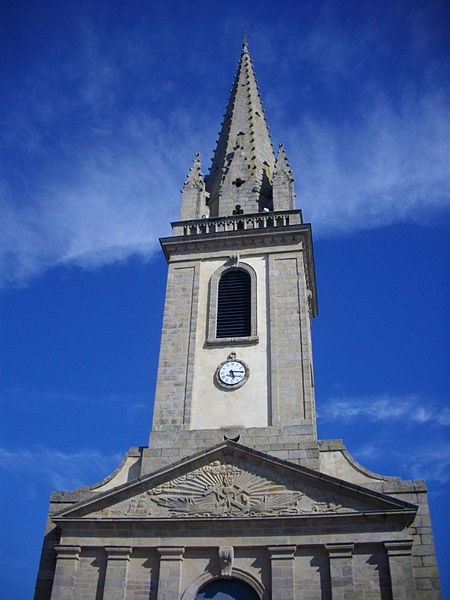 Bell tower of Our Lady church in Arzon (Morbihan, France)