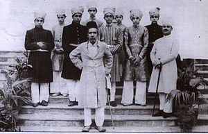 Qu'aiti - Asaf Jah VII the Nizam of Hyderabad with the Al-Quaiti Royal Family