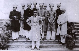 Qu'aiti - Asaf Jah VII the Nizam of Hyderabad with the Al-Quaiti Royal Family