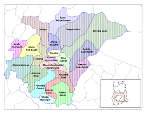 Ashanti Region - Image: Ashanti districts