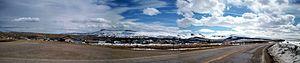 Arrowhead Springs, Wyoming - Arrowhead Springs, with Aspen Mountain to the south.