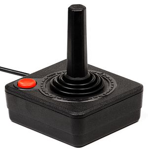 History of video games - An Atari 2600 game joystick controller, which also had a button.