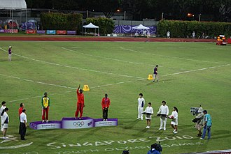 Bishan Stadium - Image: Athletics at the 2010 Summer Youth Olympics, Bishan Stadium, Singapore 20100823 150