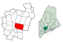 Location in Kennebec County, Maine