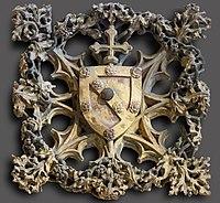 Augustins - Clef de voûte aux armoiries de Bernard de Rousergue - XVIe siècle RA 1061 Joconde05620001817.jpg