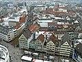 Ausblick vom Ulmer Münster über den Münsterplatz Richtung Westen - panoramio.jpg