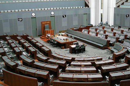 The chamber of the Australian House of Representatives. Australian house of representatives04.jpg
