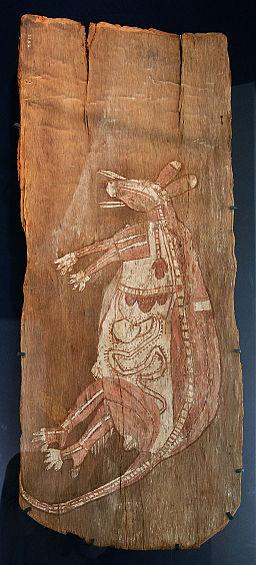 Australie Aborigene ancetre totemique kangourou