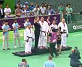 Awarding ceremony of the blind judo men +90 kg of the 2015 European Games 5.jpg