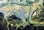 Ayabe city center area Aerial photograph.1975.jpg