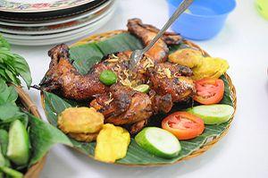 Ayam Panggang (grilled chicken, Sundanese style)