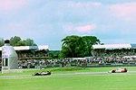 Ayrton Senna - Mclaren MP4-8 comes up to lap Alessandro Zanardi - Lotus 107B at the 1993 British Grand Prix (33686756455).jpg