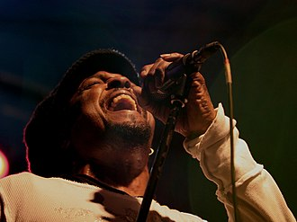 Bernard Fowler - Fowler in Potsdam, Germany; March 8th 2007 performing with The Rolling Stones