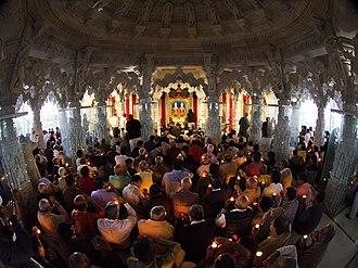 BAPS Shri Swaminarayan Mandir Houston - Aarti being performed