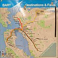 BART system map effective December 7, 1996.JPG