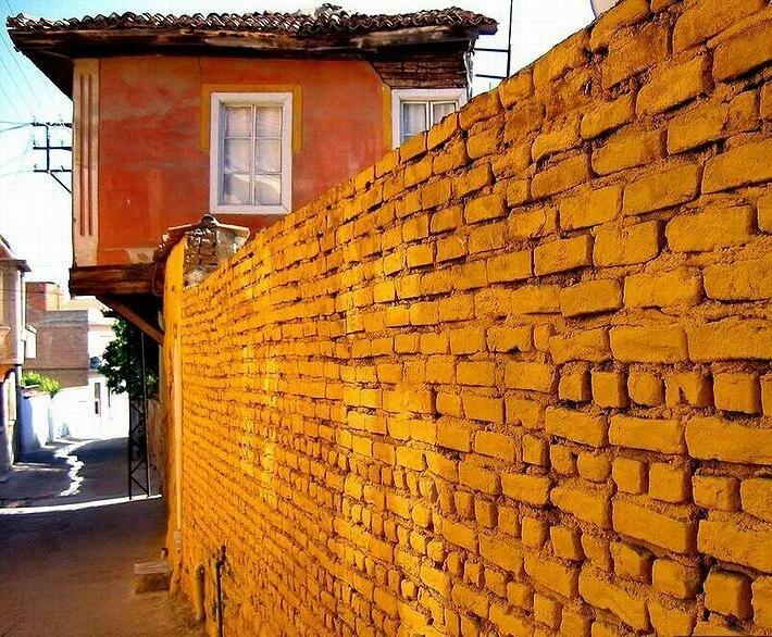 Backstreets traditional Turkish houses Milas Turkey