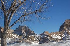 Badlands im Winter