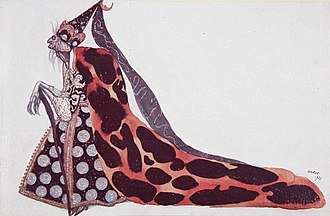 The Sleeping Beauty (ballet) - The bad fairy Carabosse by Léon Bakst, who created the décor and about 300 costume designs in 2 months for Diaghilev's lavish 1921 production of The Sleeping Beauty in London.