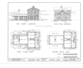 Baldwin-Buss House, Main Street and Streetsboro Road, Hudson, Summit County, OH HABS OHIO,77-HUD,1- (sheet 1 of 3).png