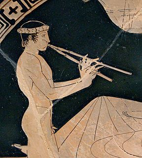 Aulos ancient Greek wind musical instrument