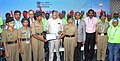 Banwarilal Purohit commending tremendous efforts of the NCC cadets and volunteers from different educational institutions of Chennai, at the closing ceremony of the DefExpo India - 2018, at Thiruvidanthai.jpg