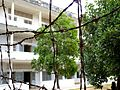 Barbed wire net in Tuol Sleng prison.JPG