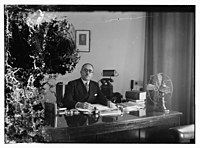 Barclay's Mr. Clarks, Director, at his desk LOC matpc.10350.jpg