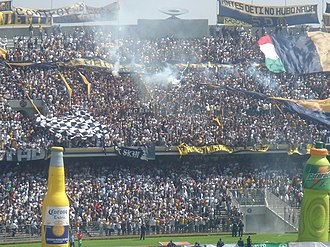 Club Universidad Nacional - Universidad Nacional fans in a match against América
